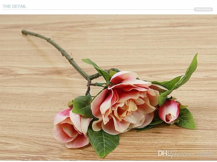 K15120 Wholesale Simulation Gardenia Display flowers bonsai Wedding Flower Home Artificial flowers Valentine's Day Decorative Flower