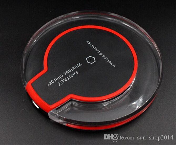 30 unids Cargador inalámbrico Qi Cargador de teléfono Cargador inalámbrico Qi de lujo Cargador inalámbrico Mini para Samsung S6 S6 Edge iPhone 6 6 MÁS DHL