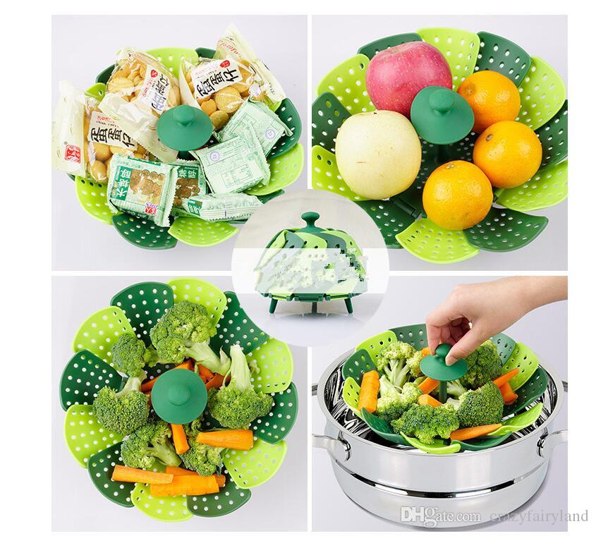 Online Cheap Folding Vegetable Steamer Basket Collapsible Food Steamer Pot  Bowl Fruit Basket Cookware Christmas Decorations Dhl By Crazyfairyland |  Dhgate.