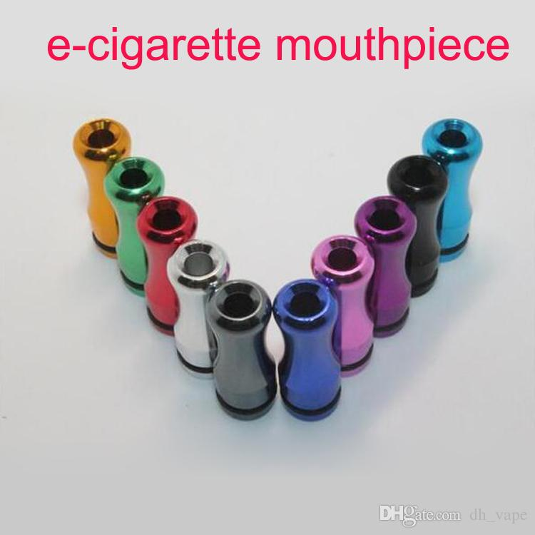 Colorful new 510 drip tips Electronic Cigarette mouthpiece metal aluminum drip tip rounded atomizer ego 510 accessory