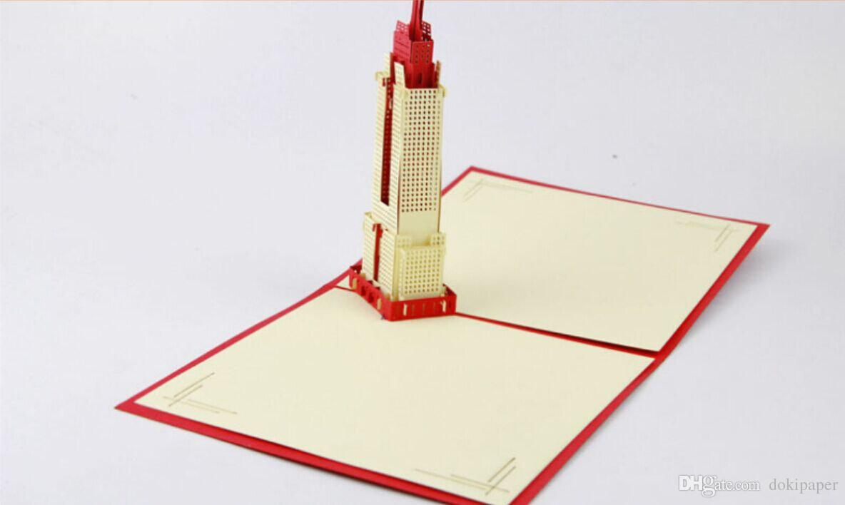 3d Empire State Building In Newyork Pop Up Card Gift Card Wedding – Wedding Gift Cards Online