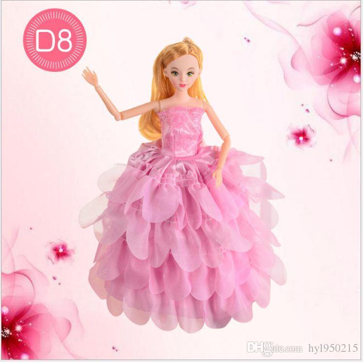 Compre Venta Caliente Barbie Muñeca De Fantasía Vestido De Novia ...