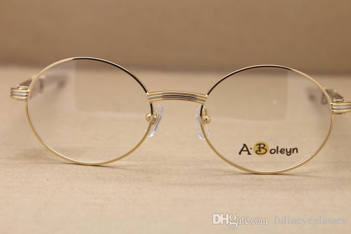 도매 7550178 레드 다이아몬드 스테인레스 스틸 안경 절묘한 합금 안경 남성 무료 배송 안경 C 장식 크기 : 55-22-140