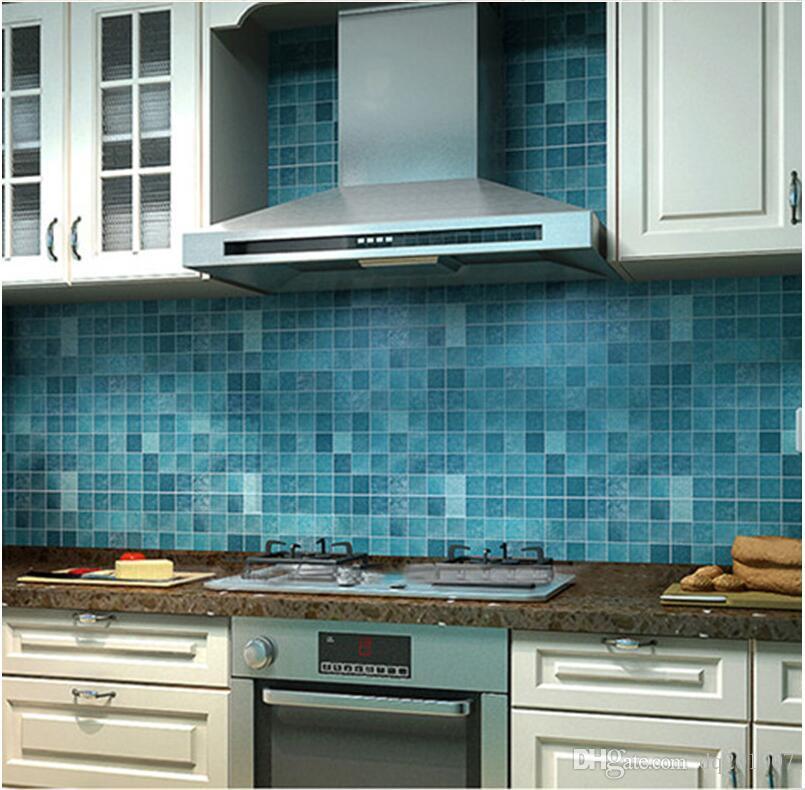 Großhandel 2m Kreative Tapeten Mosaik Aluminiumfolie Selbstklebende ...