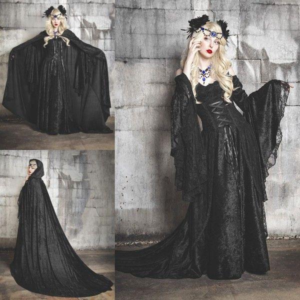 Halloween Costumes Fancy Prom Dress Off Shoulder Vampires Devils ...
