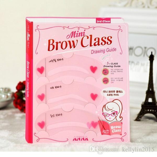 Estênceis de sobrancelha 3 estilos Grooming Brow Kit modelo pintado DIY beleza modelo de sobrancelha Stencil Styling Tool cartão de tordo para maquiagem