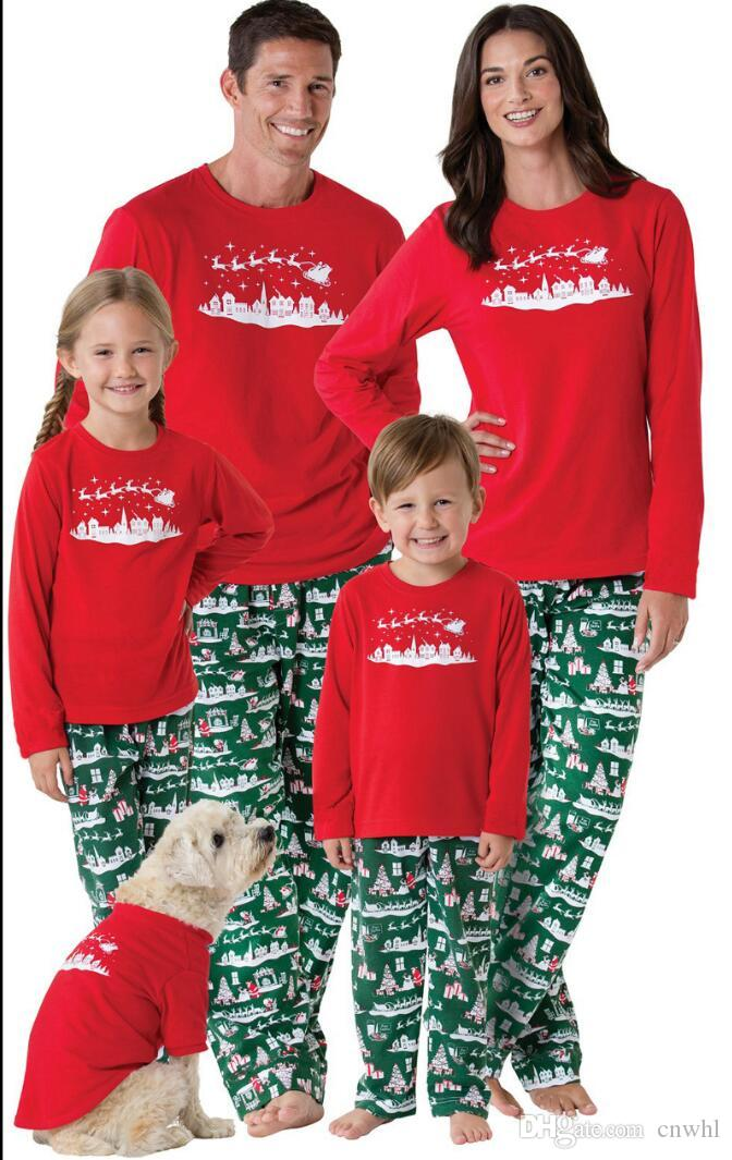 family christmas pajamas 2017 christmas snowman print family matching outfits fashion patchwork long sleeve family look couple matching shirts matching