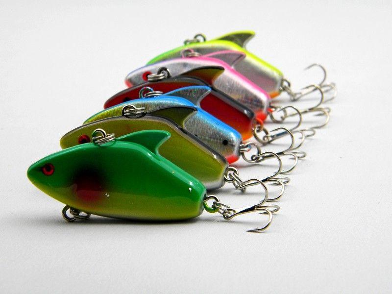 Nouveau VIB minnow Leurre de pêche 7.7cm 5.5g Pêche peu profonde 3D Eyes vibs appâts détraqués en plastique
