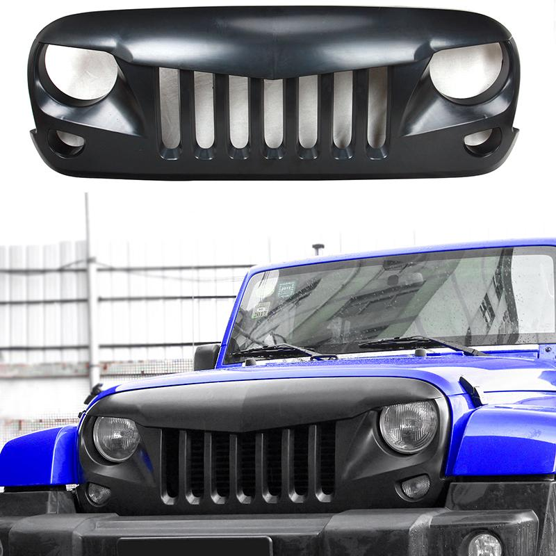 Front Grill Covers Lamp Hoods ring Car Exterior Accessories Hot Sale High Quality ABS Fit For Jeep Wrangler 2007-2017