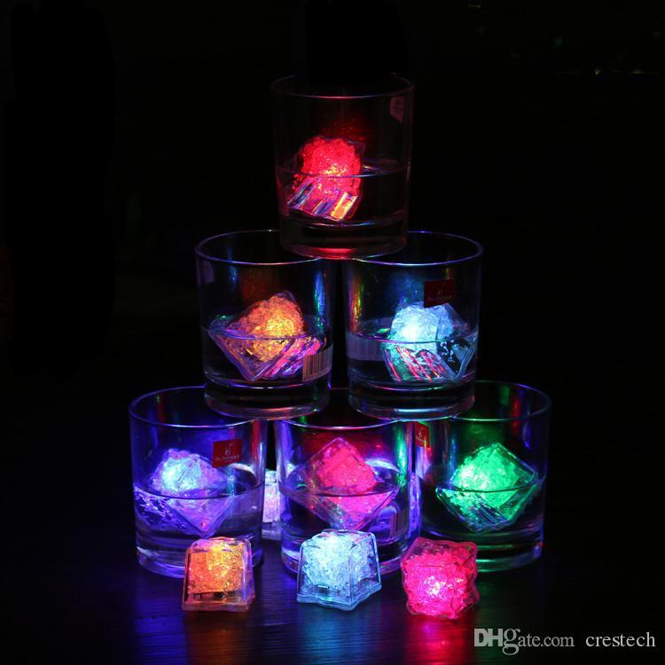 LED Buz Küpleri Işıkları Aoto renkler Mini Romantik Işık Küp LED Yapay Buz Küp Flaş Işığı Düğün Noel Partisi Dekorasyon lamba