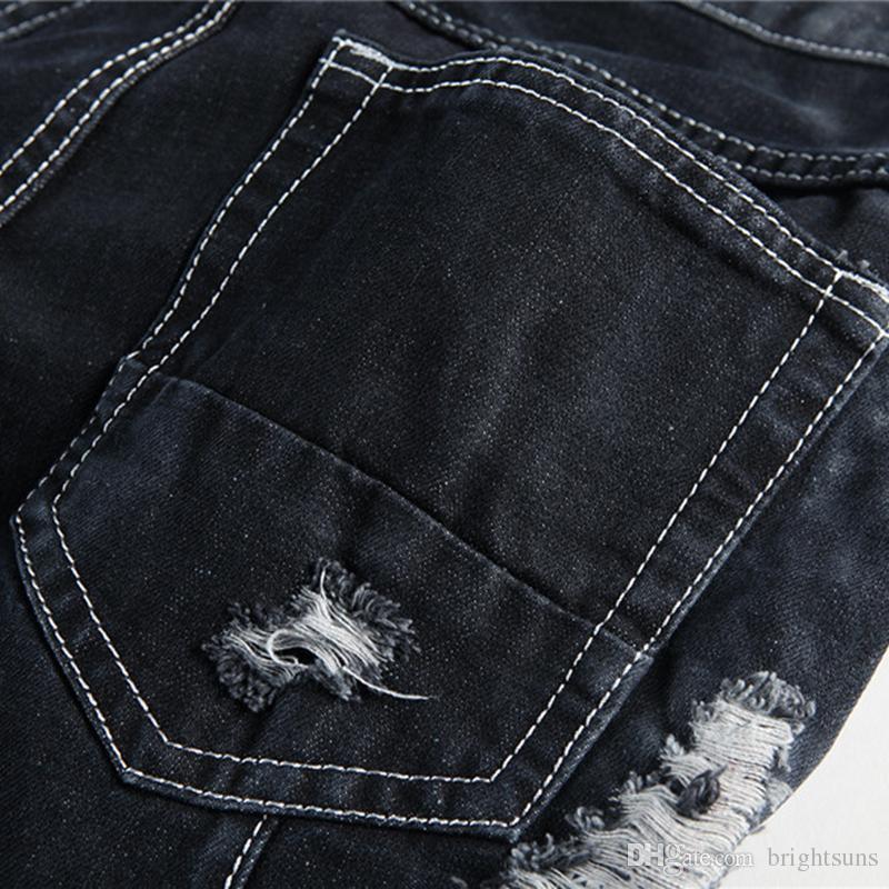 New fashion designed men's destroyed ripped Men fancy jeans ripped cheap jeans for men denim innovative design skinny jeans Size:29-38 Pants