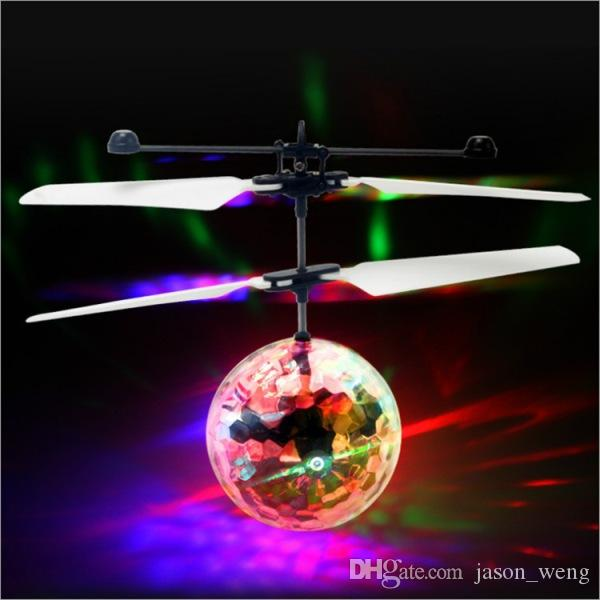 RC Drone Flying Ball Aircraft Helicopter Led Flashing Light Up Toys Infrared Sense Induction Electric Toy For Kids Children Christmas gifts