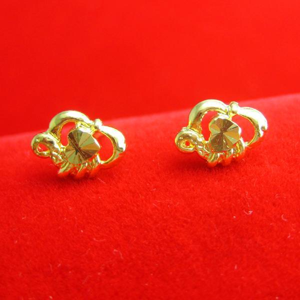 Pendant une longue période ne se fane pas or boucles d'oreilles or boucles d'oreilles simulation mariée mariage cadeau bijoux femmes ont augmenté