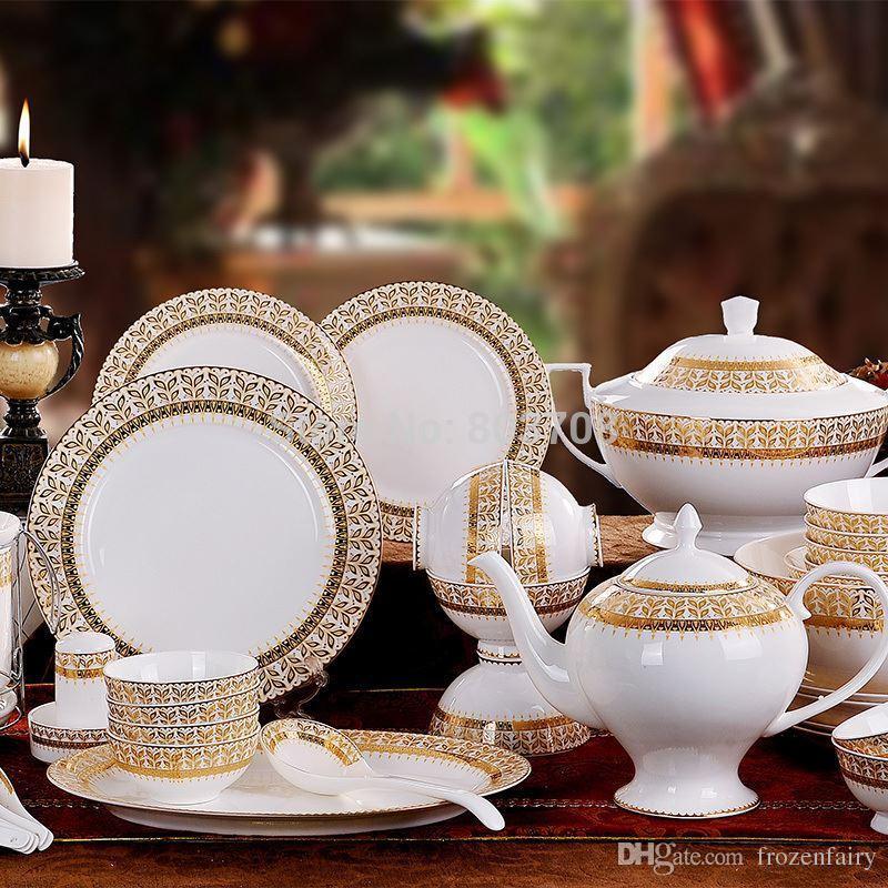 70 Fine Bone China Jingdezhen Ceramic Tableware Suit Harvest Upscale Authentic Ceramic 160311# Blue White Dinnerware Sets Bone China Dinnerware Sets From ... & 70 Fine Bone China Jingdezhen Ceramic Tableware Suit Harvest Upscale ...