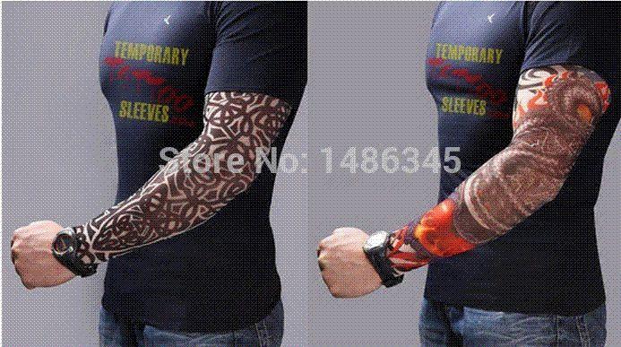 New Nylon Stretchy Temporary Tattoo Sleeves Long Arm Sleeves Kit ...