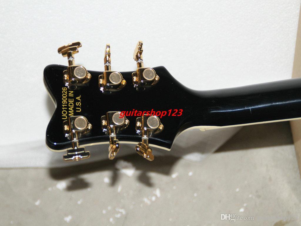 Yeni Varış Black6120Hollow Caz Gitar withBigbys En Müzik aletleri ücretsiz kargo