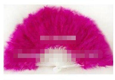 21 vouwbare staven handgemaakte marabou veer fan / veer ambacht / voor dansen, bruiloft of decoratie