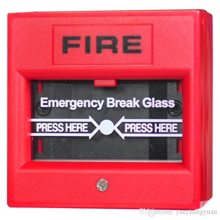 2 Wire Alarm System | Glass Broken Button 2 Wire Conventional Manual Call Point Fire Alarm