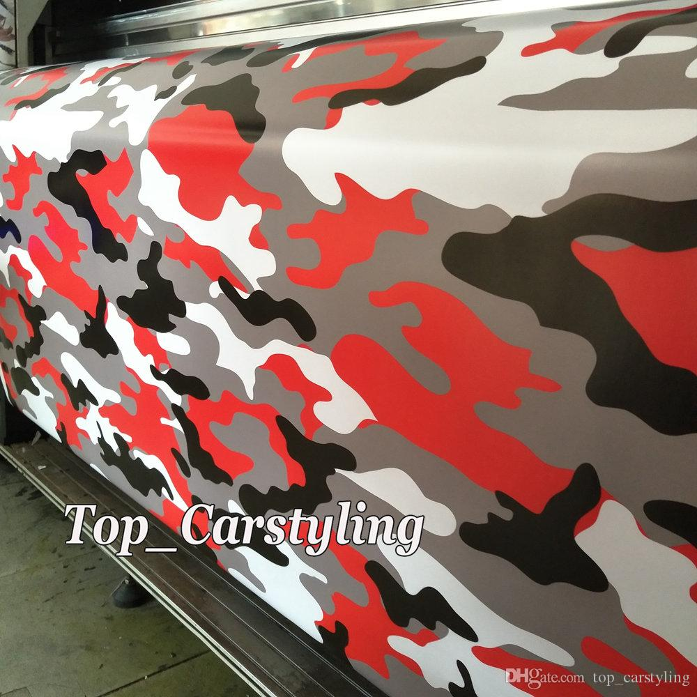 2018 red snow camouflage wrap film ubran camo wrapping vinyl foil with bubble free truck body. Black Bedroom Furniture Sets. Home Design Ideas