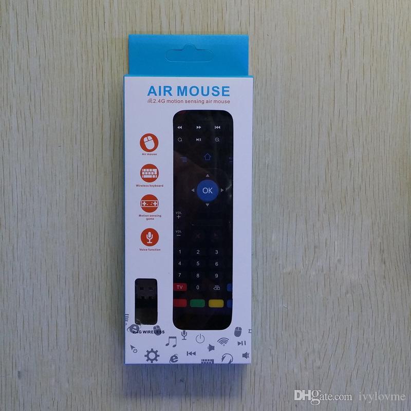 Air Fly Maus MX3 2,4 GHz Wireless Keyboard Fernbedienung Somatosensorischen IR Lernen 6 Achsen für Android TV Box ohne Mic Kostenloser Versand