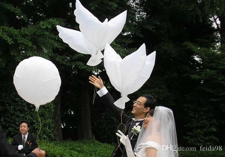 2017 nuovi palloncini nudi elio gonfiabile biodegradabile colomba bianca colomba palloncini decorazione di cerimonia nuziale peace oves a forma di palloncini Bio