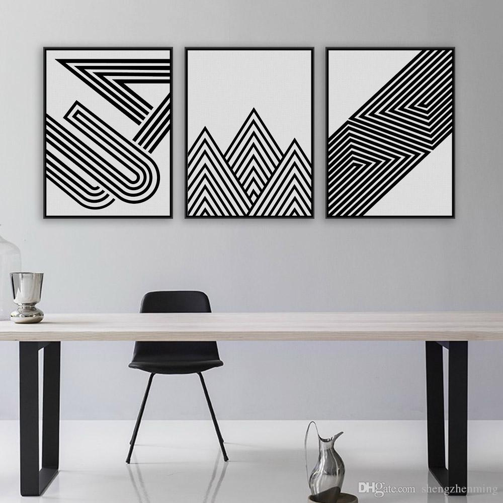 2018 Nordic Black White Minimalist Geometric Shape Art Prints Poster  Abstract Wall Picture Canvas Painting Living Room Decor No Frame From  Shengzhenming, ...