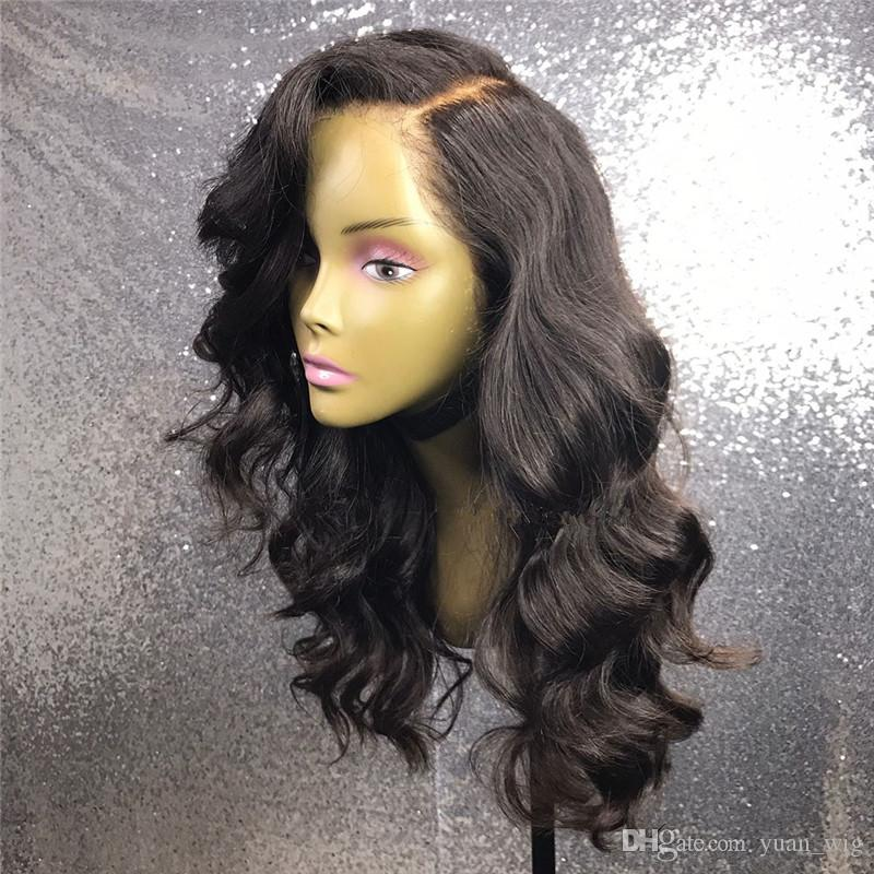 Full Lace Wigs Natural Color Body Wave For Ladies Cheap Price Good Quality Brazilian Hair Lace Wigs Selling Online