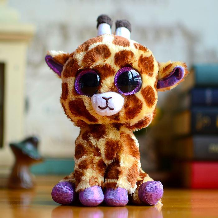beanie boos ty big eye kids baby toy colorful safari giraffe cute plush toys lovely christmas gifts kawaii stuffed animals dolls plush toys anime toys
