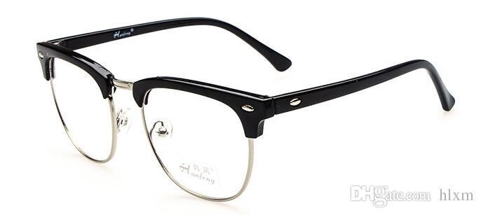 2018 Retro High Fashion Plain Glasses Metal Frame Eyeglass For Men ...