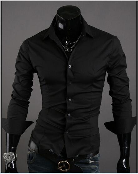 2016 VSKA neue frühling business-hemden wilden einfarbig Dünne beiläufige männer spitzkragen langärmeligen hemd