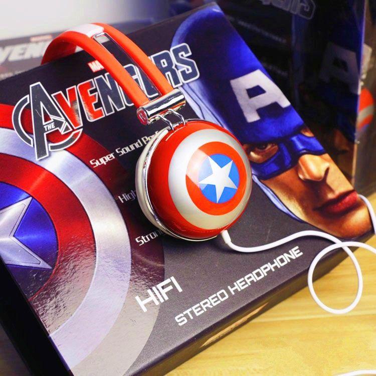 Best Genuine Usa Marvel Captain America Headset The Avengers Hifi Stereo Headphone Shield Music Video Gaming Headset For Pc Mobile Phone Mp3 Bluetooth ...