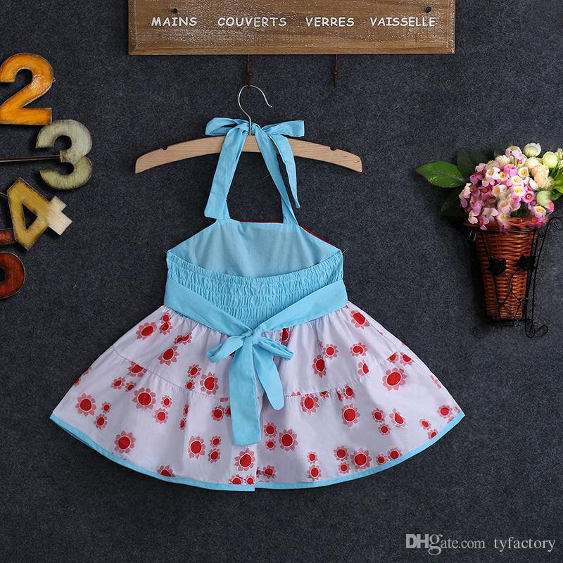 Kid girls suspender dress Backless Baby Girl Princess Tutu wedding Dresses family Party Bow Flower Gown vestidos top wholesale