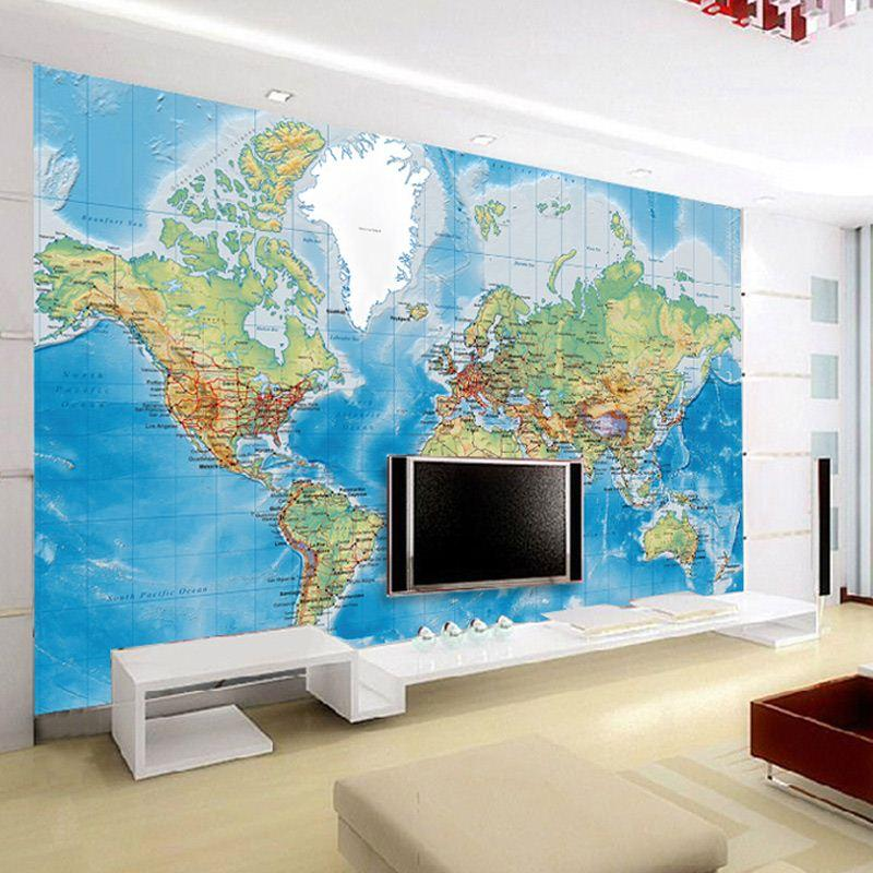 Non woven world map office wallpaper living room den large 3d mural non woven world map office wallpaper living room den large 3d mural personalized wallpaper custom wall covering papel de parede high quality wallpaper wa gumiabroncs Choice Image