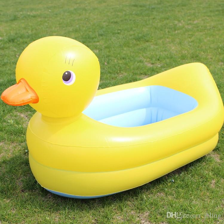 2017 Baby Pool Inflatable Baby Swimming Pool For Children Yellow Little  Pools For Babies Inflatable Bathtub Duck Thickening Pool From Jbling, ...