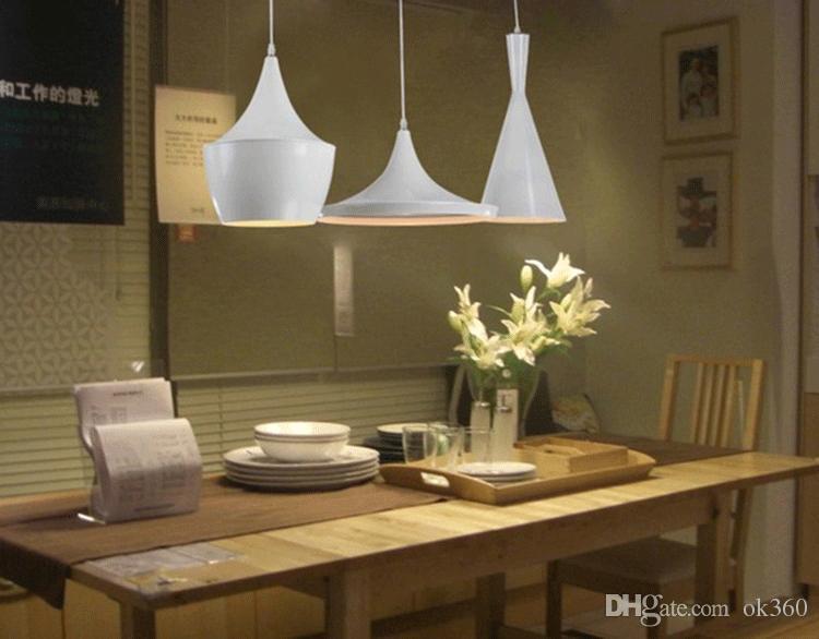 Modern Tom Dixon Beat White Light Pendant Lamp Ceiling Lighting Fixture chandelier droplight E27 bulbs