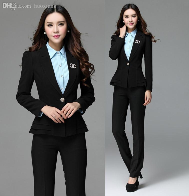 Wholesale Women Formal Work Wear Suits Blazer And Pants Pantsuits