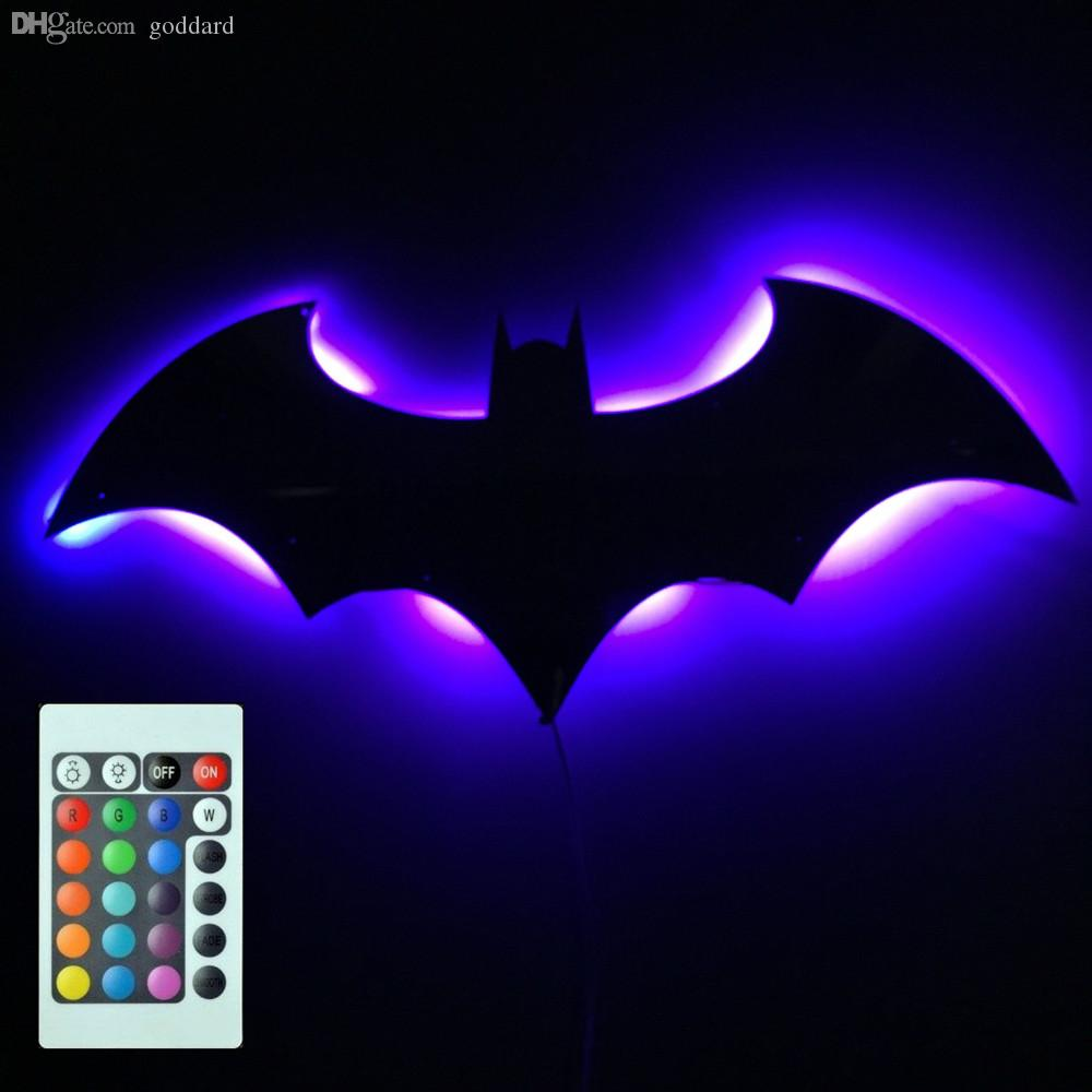 Wholesale batman logo mirror plus batman eclipse light remote wholesale batman logo mirror plus batman eclipse light remote controlled led wall light light led tube led bulbs for boats light sensor led online with aloadofball Choice Image
