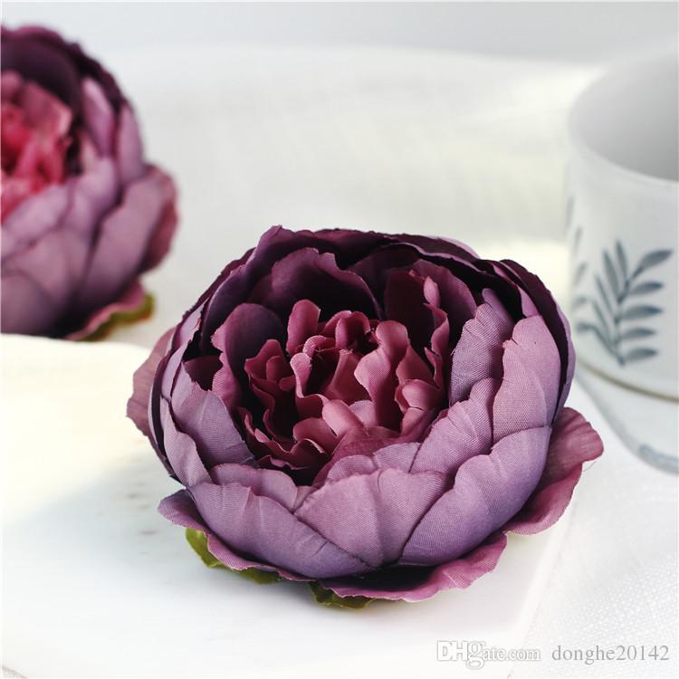 10CM 도매 인공 실크 장식 모란 꽃 머리 DIY 웨딩 벽 아치 홈 파티 장식 고품질의 꽃