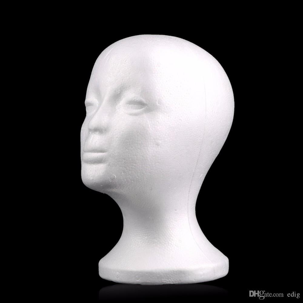 Parrucca femminile in polistirolo espanso teste manichino in schiuma manichino testa modello parrucca capelli occhiali occhiali cappello visualizzazione