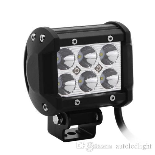 """led work light bar 4"""" inch 18W LED Work Light Bar For Jeep Offroad Car With Wiring Harness Kit"""