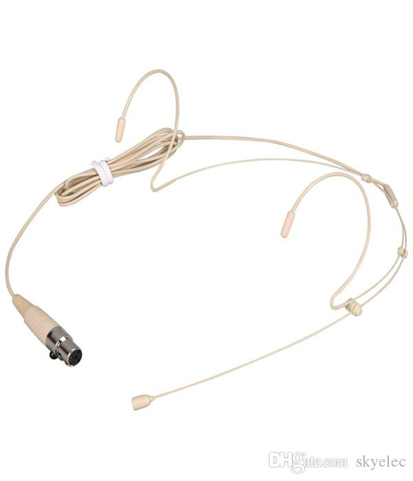 Casque Microphone Mini résistant à la sueur Beige Microphone pour Audio Technica Sans fil Micro Usb Condenseur Microphone Usb Microphone