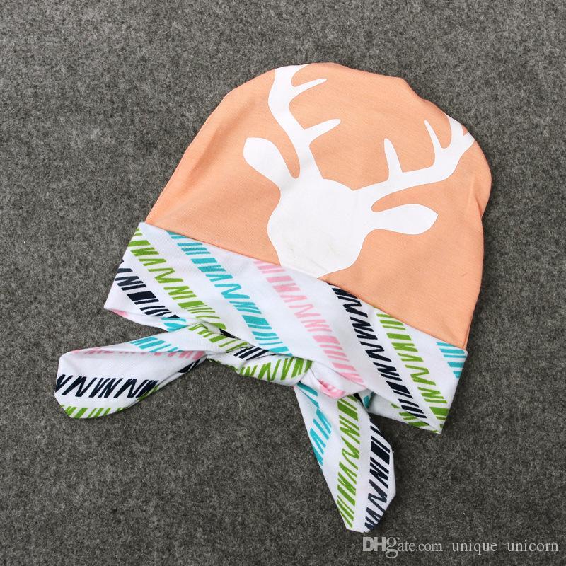 2016 belle neonate tutine set manica lunga lettera tute + cervo pantaloni lunghi + cervo cappello bambina autunno abiti