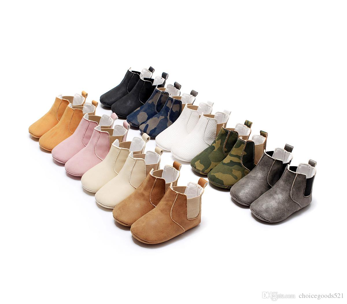Baby Shoes Soft Boots Infants Pu Casual Shoes Baby First Walker Warm ... 61ca3a3db7