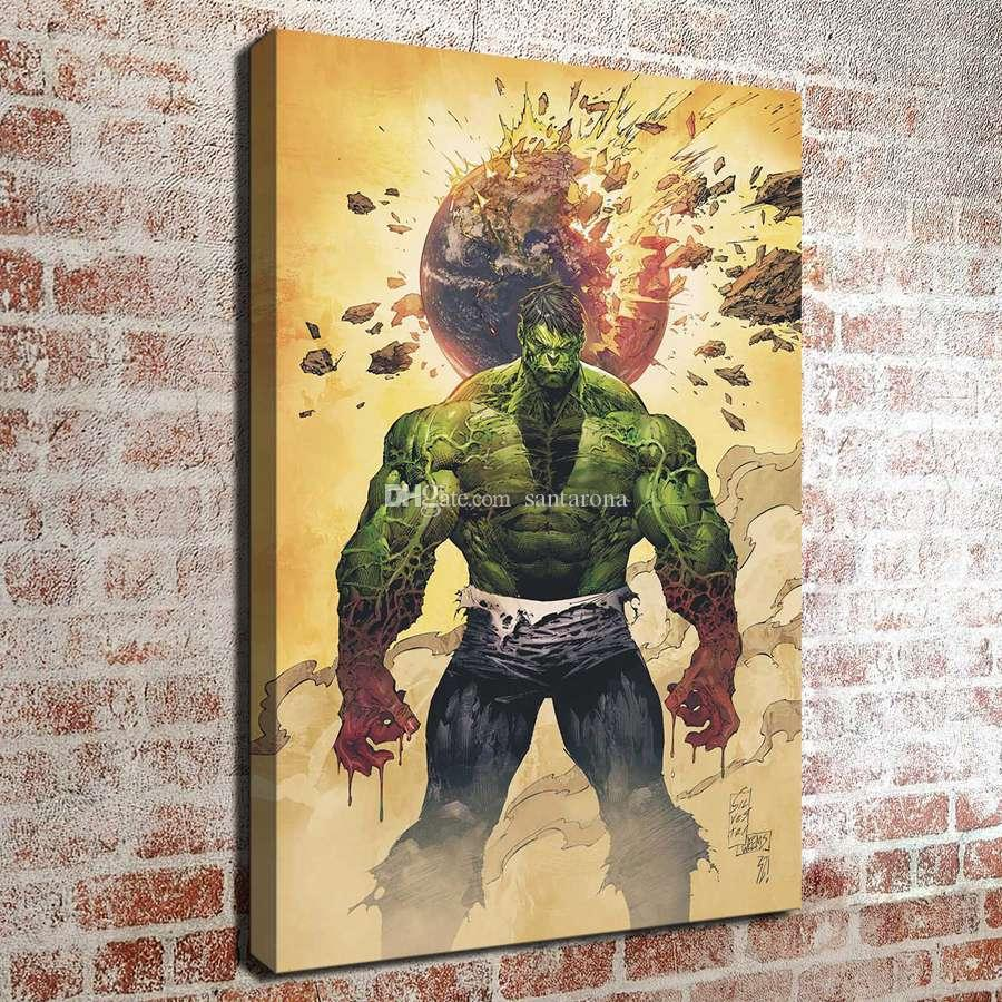 No FrameThe Hulk HD Canvas Print Wall Art Oil Painting Pictures Home ...