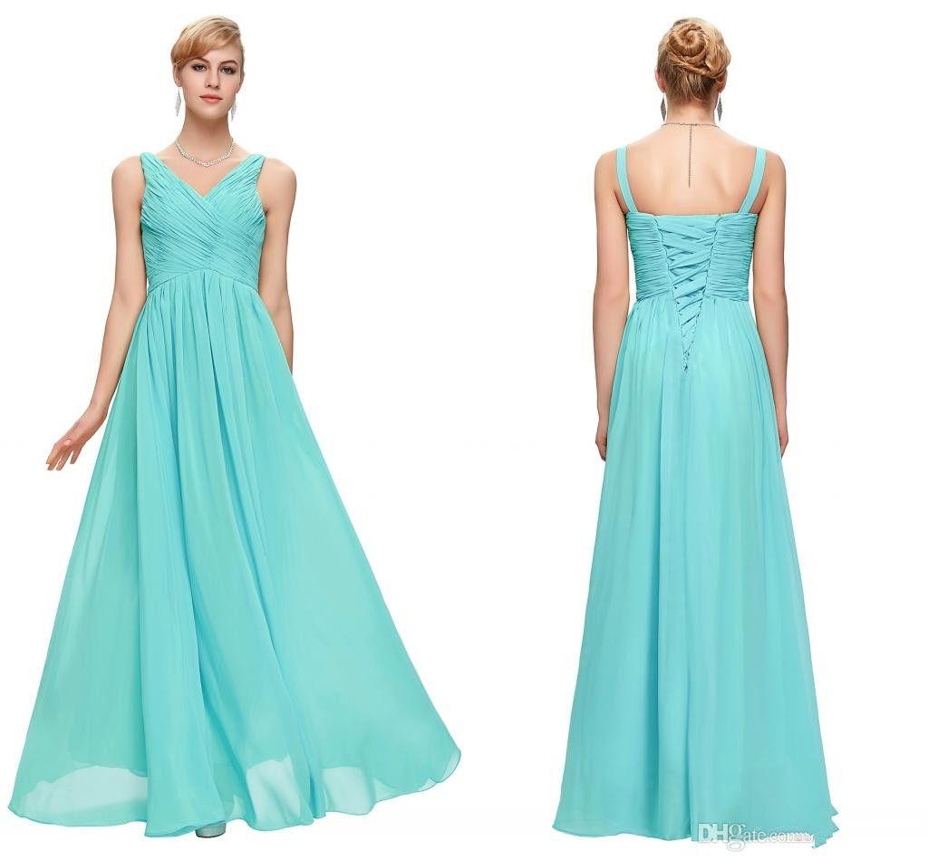 Cheap aqua blue bridesmaid dresses blush pink red purple mint see larger image ombrellifo Images