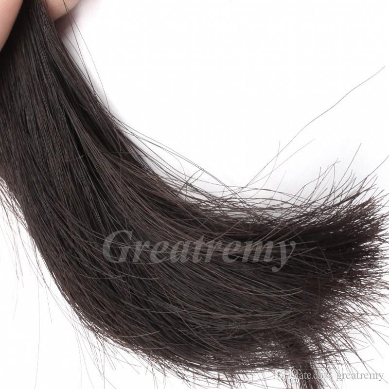 / mycket blandad längd 100% peruansk obehandlad mänsklig hårförlängning 8