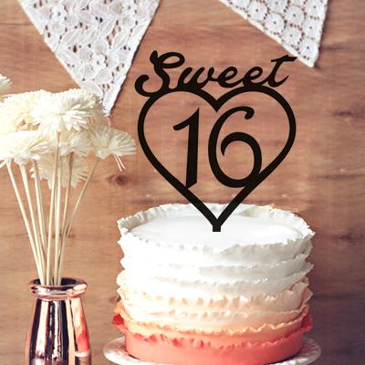 sweet heart 16 birthday wedding anniversary cake topper 16th cake topper for party decor birthday topper indian wedding decoration pictures indian wedding