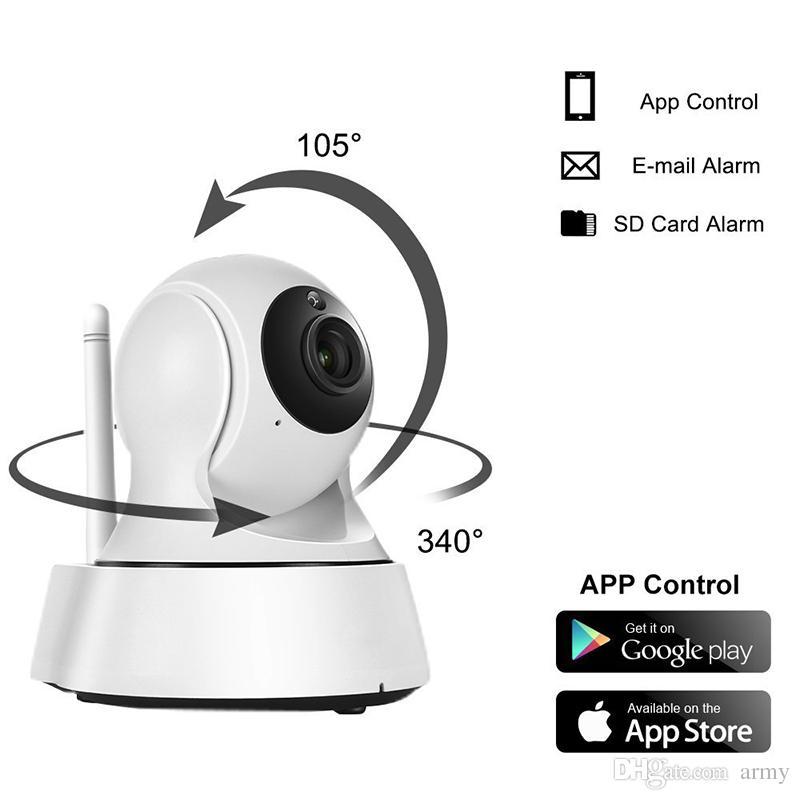 Mais novo Home Security Sem Fio Mini Câmera IP Câmera de Vigilância Wifi 720 P Night Vision CCTV Camera Baby Monitor