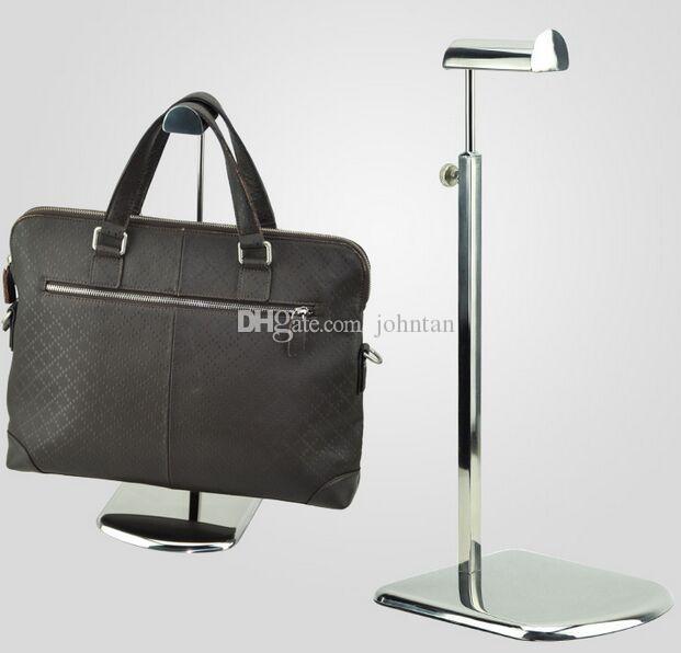 Hot sale large base mirror stainless steel metal women bag bracket display rack Tie/wig/purse/handbag display stand holder G-05