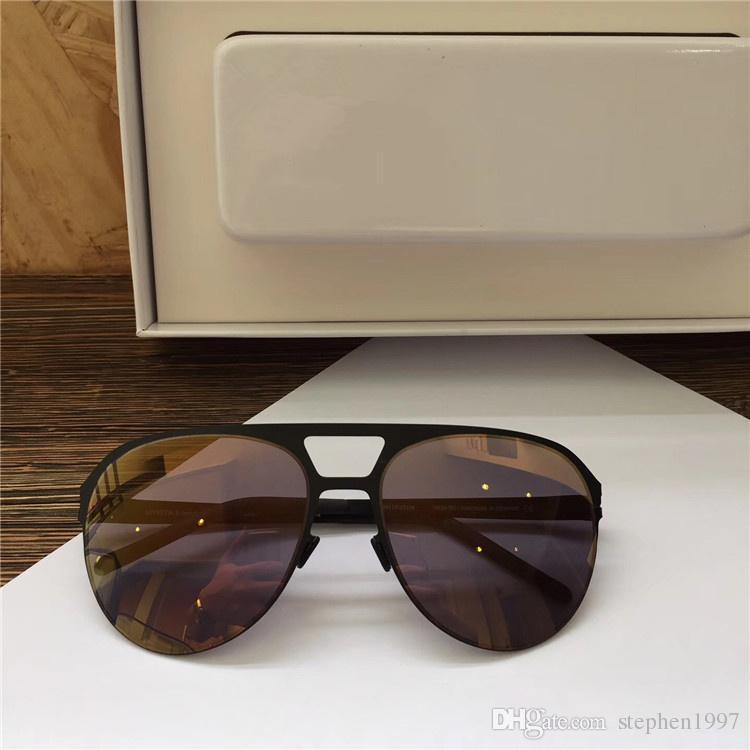 New MYKITA Popular Sunglasses Pilot Frame No screws Designer with Mirror Lens Ultra Light Frame With Original Box